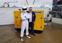 The Stig and James McKiver, Strategic Account Manager for Selwood, at the Morgan Sindall event