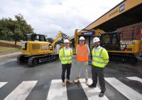 (left to right) Scott Butler – Operations and Fleet Manager for Selwood, Jack Cezair, Business Development Representative at Finning UK and  Richard Bright, Chief Operating Officer for Selwood