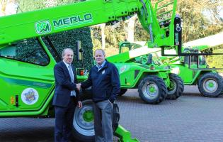 John Knight, from Selwood, and Mark Taylor, from Paultons Park, with the fleet of Merlos