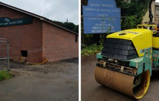 Selwood's Bristol branch provided a Ride On Roller for the rebuild of Kingsweston Sports and Social Club