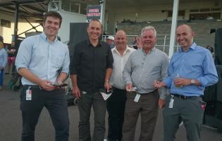 Selwood and partners from the water industry at Chepstow Racecourse
