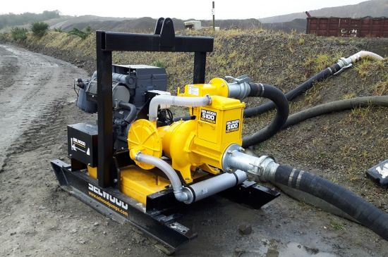 Selwood pump sales solids handling pump at quarry in Devon