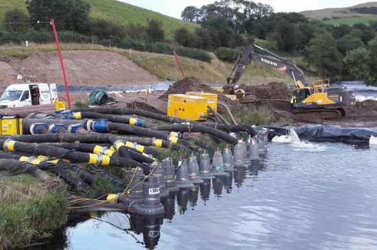 Time-lapse video captures complex river project in Scotland