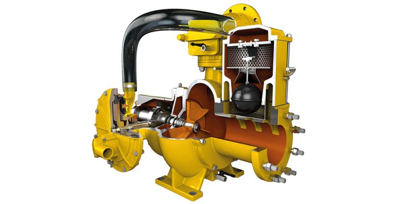 Cut-through of a solids handling pump from Selwood
