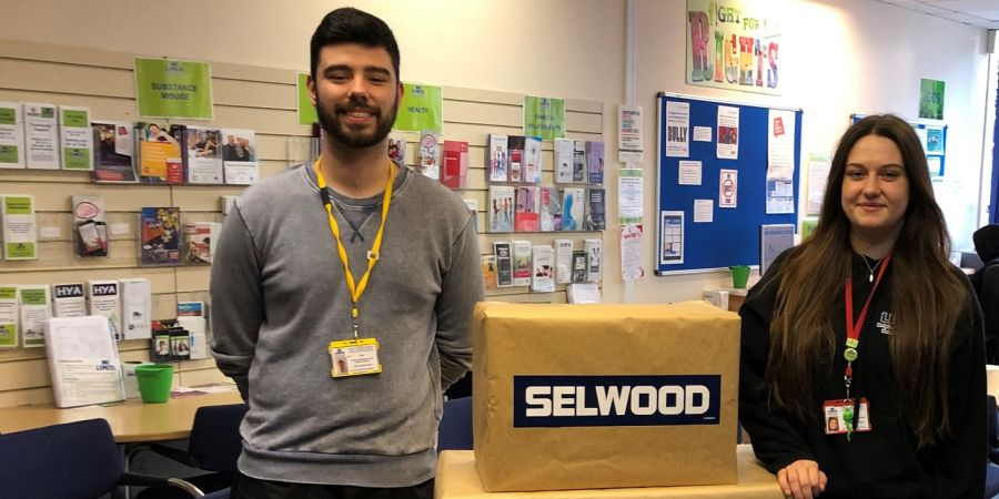 Staff at No Limits with the donations from Selwood