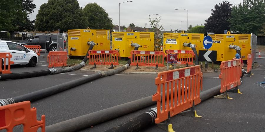 Selwood provides pump rental solutions to Anglian Water