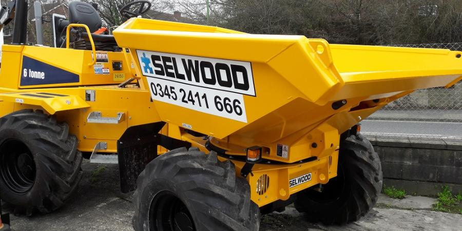 Selwood provided a dumper truck for a training session for motorway workers