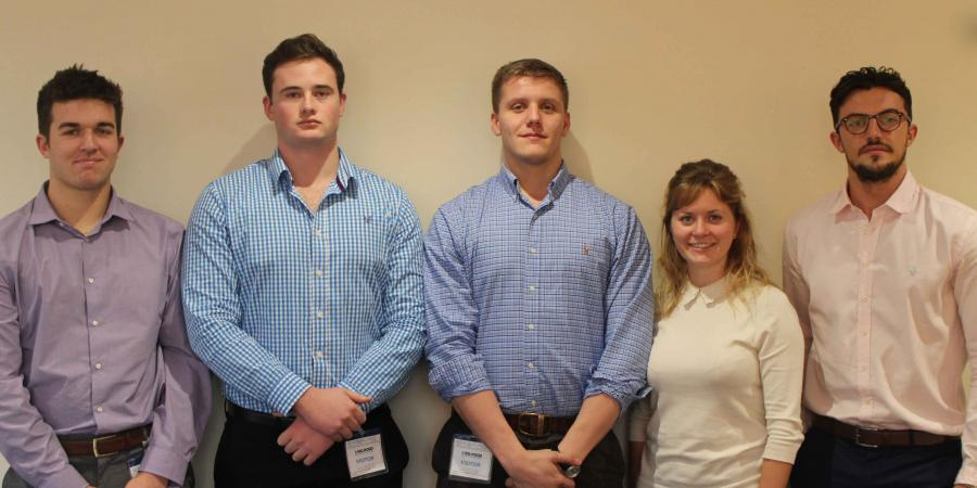 Five new graduates have been recruited by leading pump rental provider Selwood