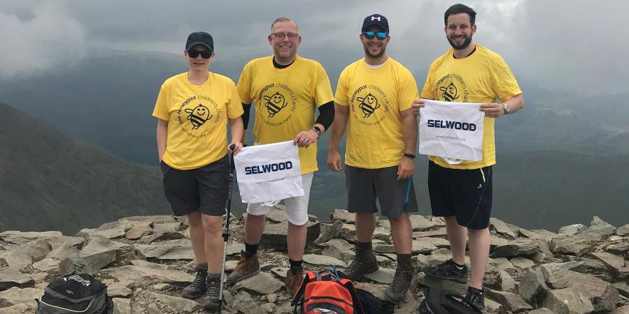 The Selwood team climbed Mount Snowdon to raise thousands of pounds for charity