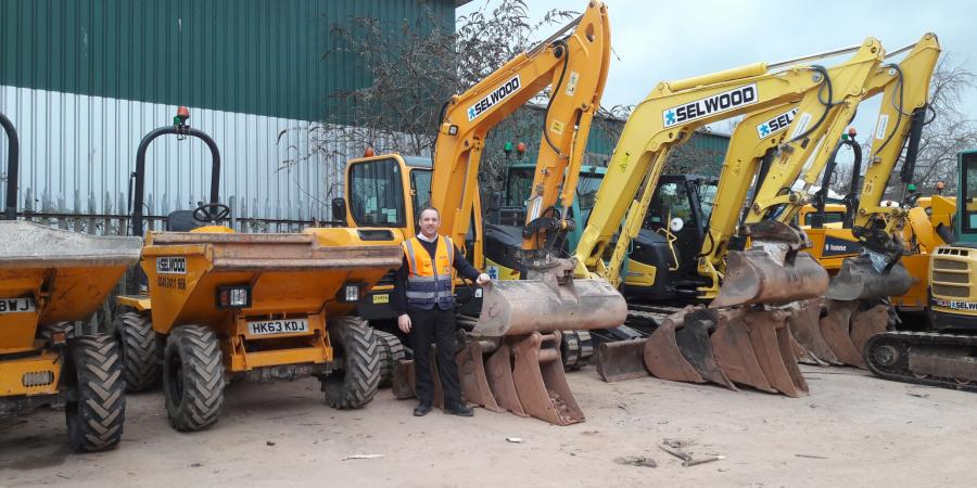 Terry Clark with plant equipment at Selwood's Exeter branch
